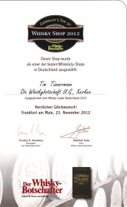 Best Whisky Shop 2012