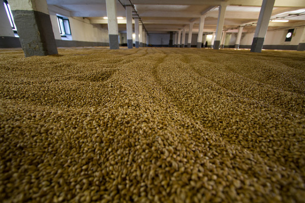 Malzboden der Laphroaig Destillerie